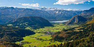 Bohinj alpine valley and Slovenian Alps