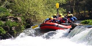 White river rafting on the Neretva River, Herzegovina