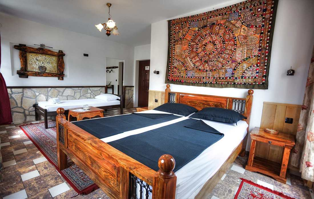Unique design and layout of the rooms in Villa Anri, Mostar, Bosnia