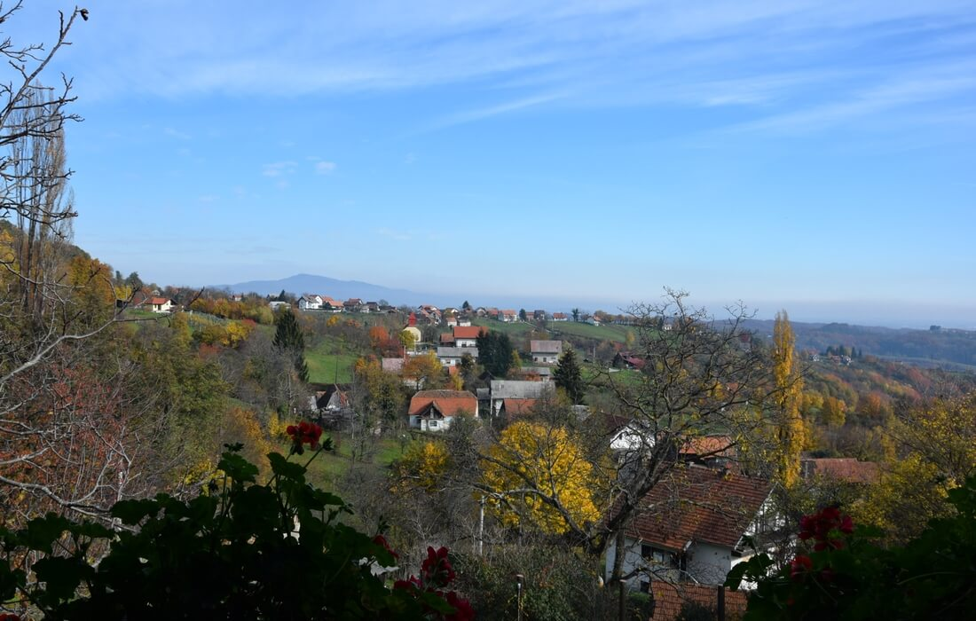 Apartment view of Samobor Hills, Croatia
