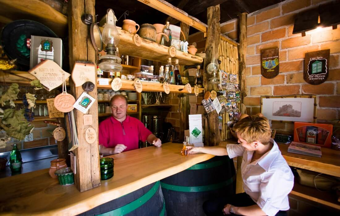 Rural village bar, Farmhouse pod Okicem, Zagreb County