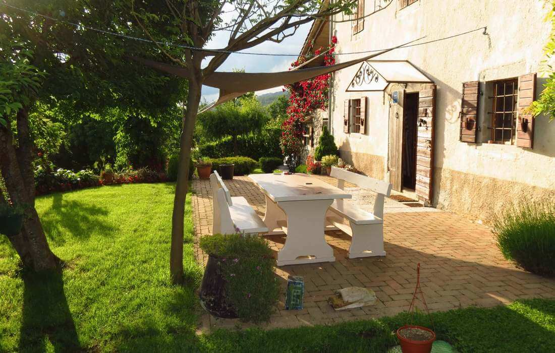 Terrace with garden view, Country Villa Our Istria