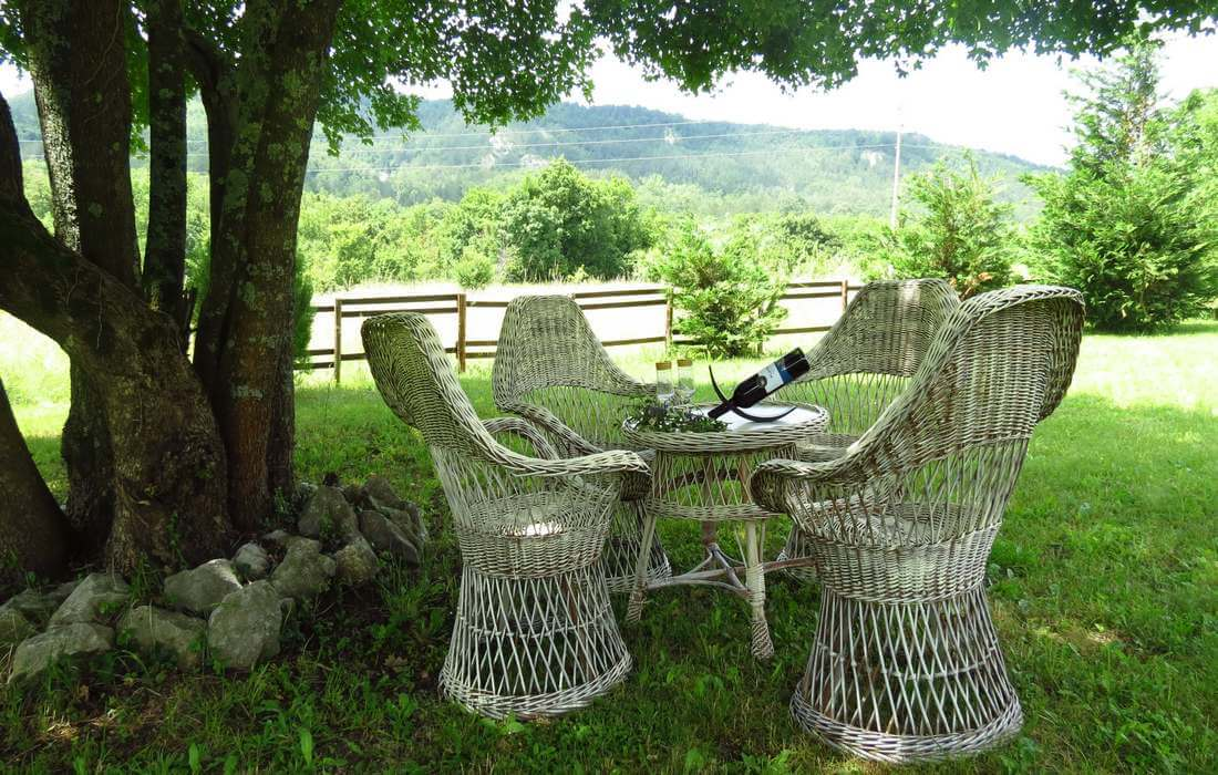 Seating in garden – Country Istrian villa Our Istria