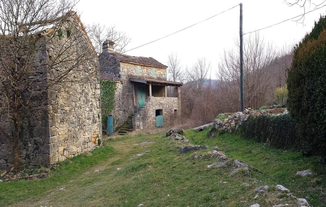Kotle - old Istrian village in the Mirna Valley