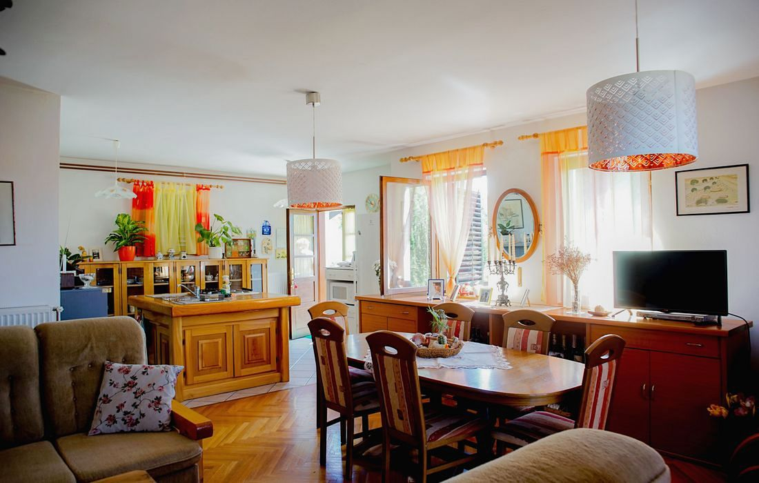 Living room with kitchen, House Vrbovcanka