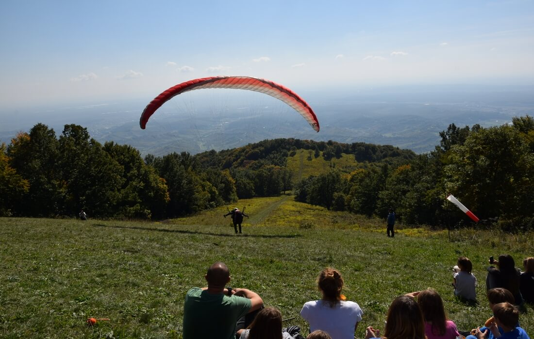 Paragliding area on Japetic, Samobor Highlands