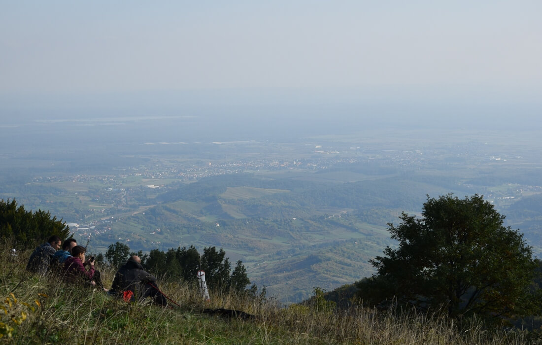 Panorama view of Samobor Highlands, Inland Croatia
