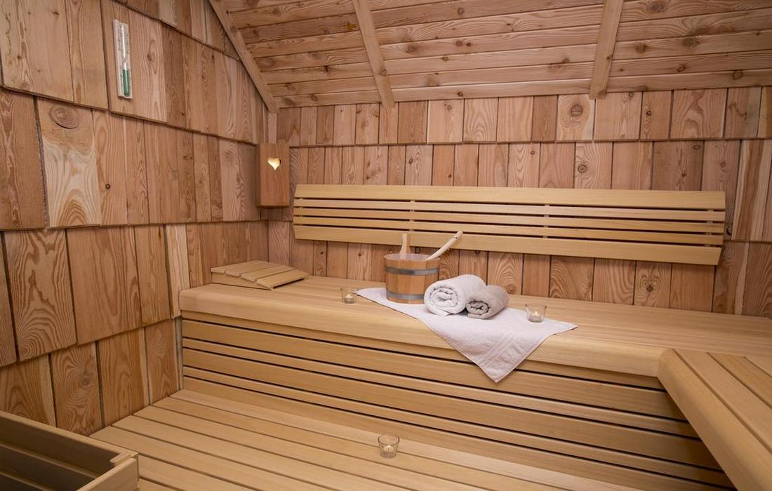 Relaxing in the in-house sauna in Chalet Zlatrog