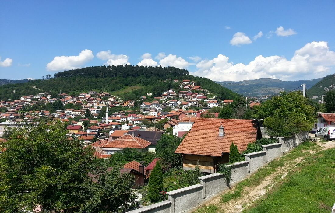Sarajevo on the green hills