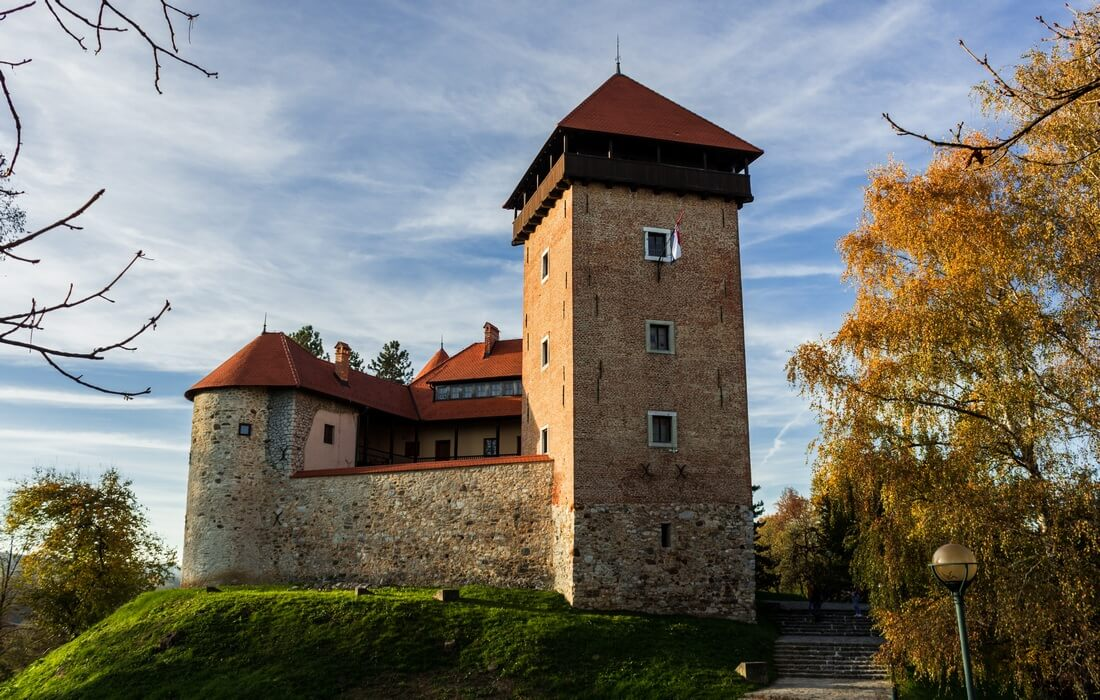 Visit of Dubovac Castle in Citiy of Karlovac, Central Croatia