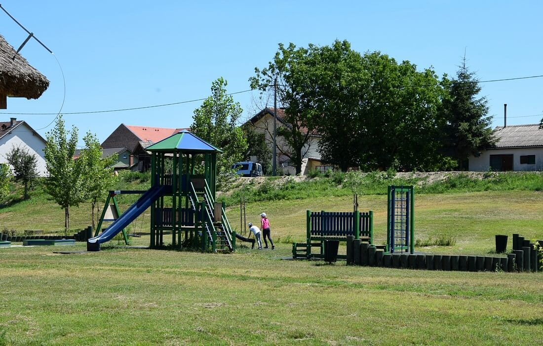 Playground for children next to Kopacki rit