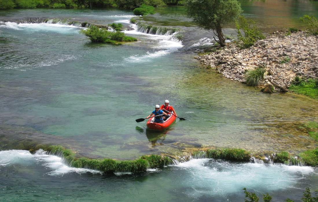 Kayaking on Mreznica River in Central Croatia