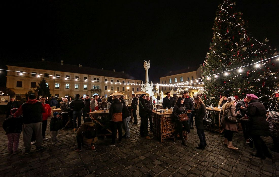 Advent time in Osijek, Continental Croatia
