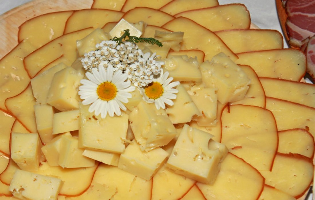 Variety of Bohinj cheese products