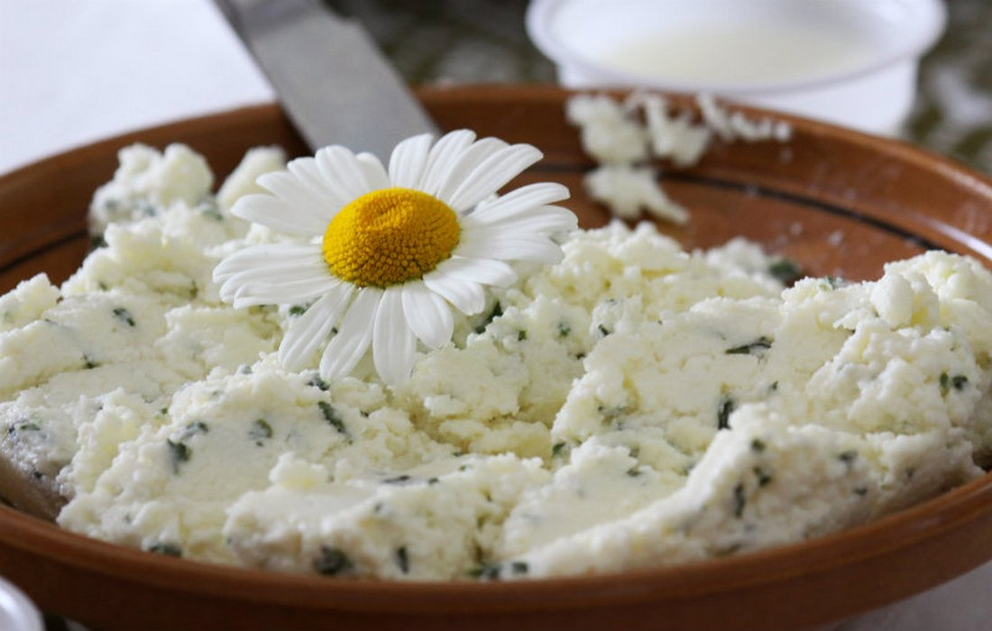 Herbal spreads from cottage cheese, Bohinj