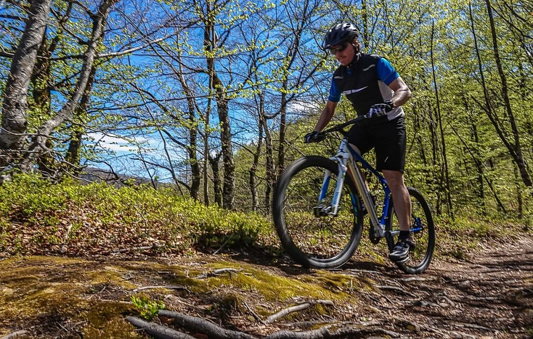 Mountain biking adventure in Slovenian Alps