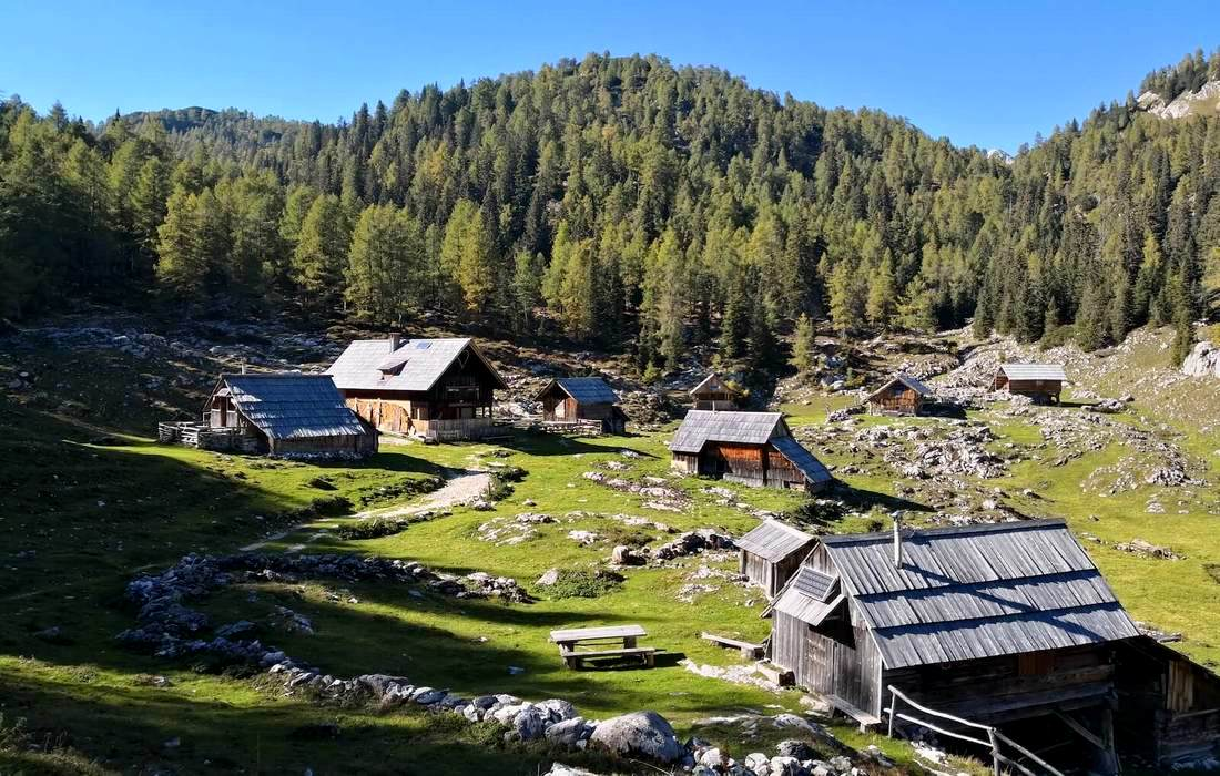 Shepherds huts in Slovenian mountains