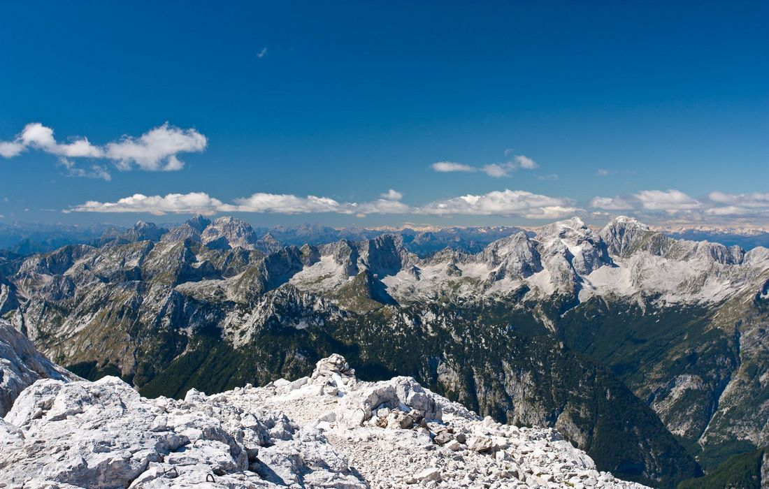 Highest peaks in Julian Alps, Slovenia