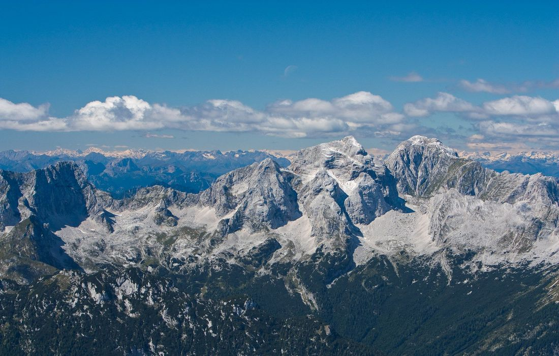 Panorama view of Slovenian Alps