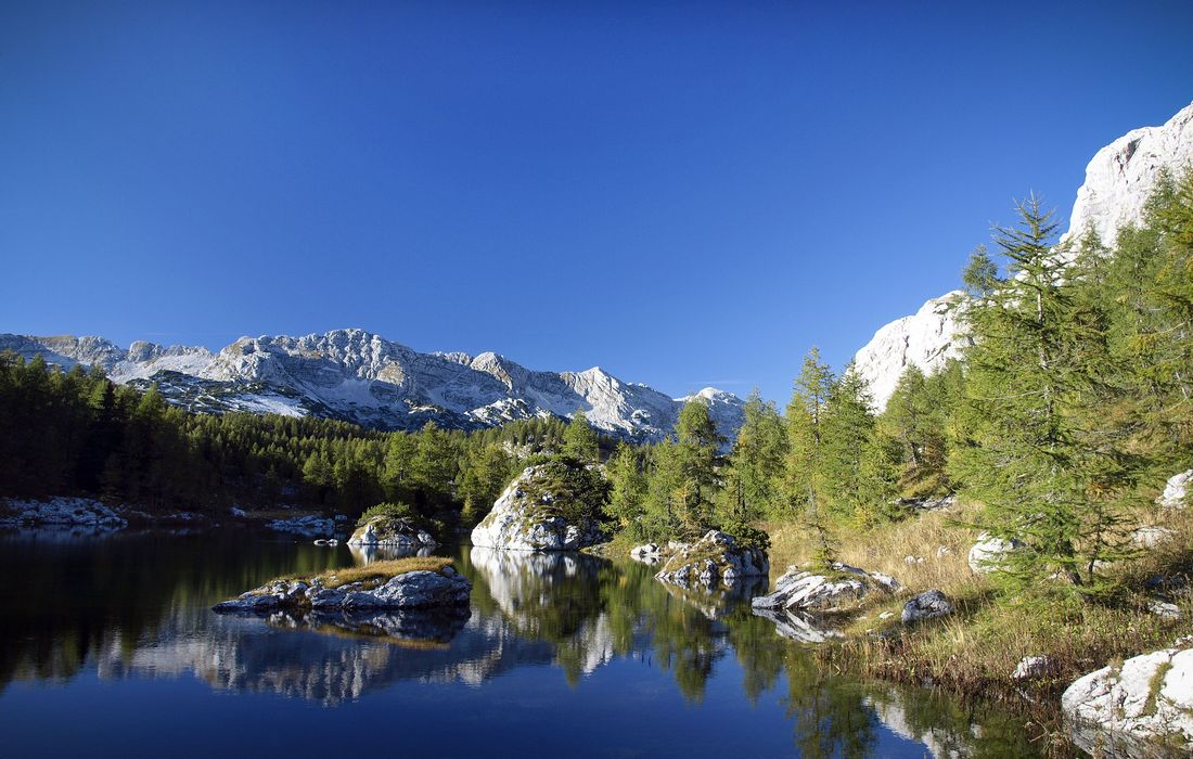 Double Lake in Triglav National Park, Slovenia