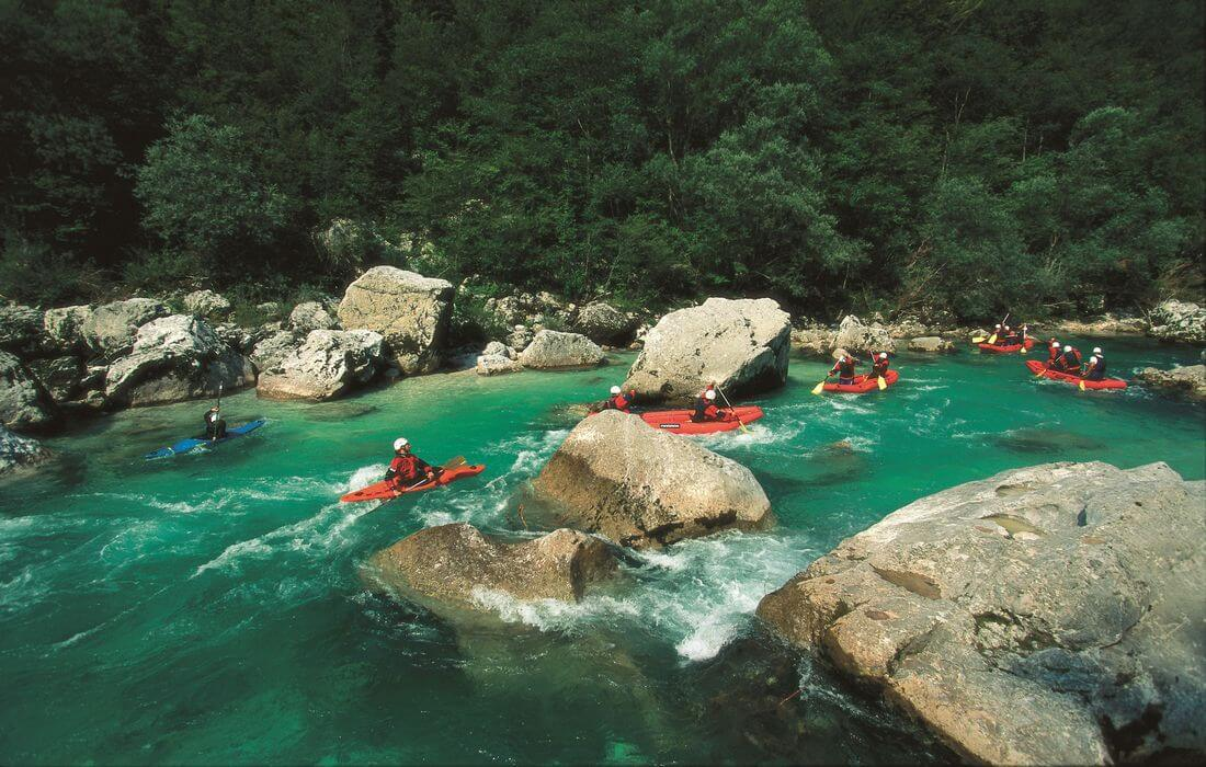 Whitewater activities in Soča Valley